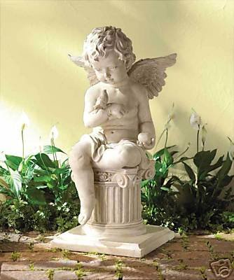 Charming Cherub Garden Sculpture - garden decor / sculpture