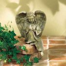 Resting Angel with Bird - divine angel and feathered friend