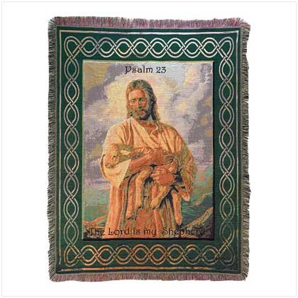 Tapestry Throw - Spiritual Inspirations - Psalm 23