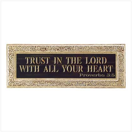 Trust in The Lord With All Your Heart Wall Plaque - Proverbs 3:5