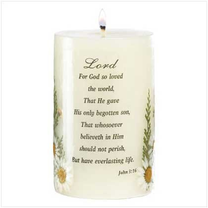 Candle - Love of the Lord Candle - beautiful inscripted candle