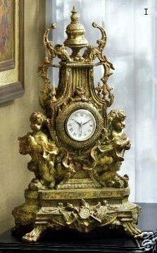 European Style Baroque Cherub Mantle Clock - Cherub Clock