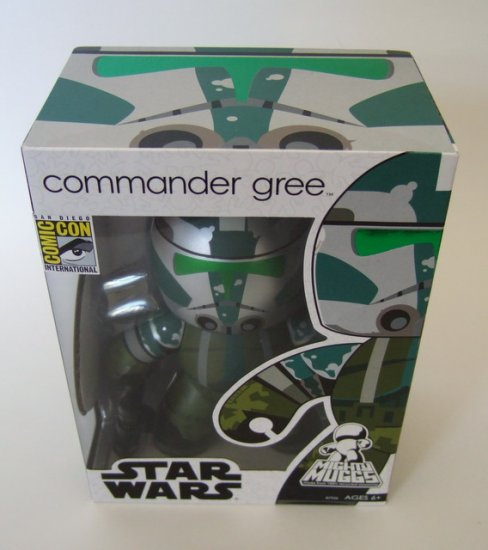 StarWars Star Wars Mighty Muggs Commander Gree Brand New 2008 SDCC Exclusive