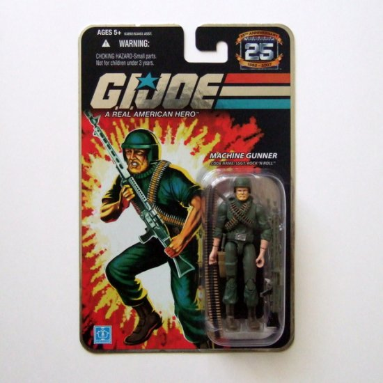 GI JOE 25th Anniversary SSGT. Rock �N Roll MOC Brand New