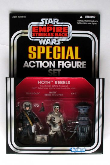 Star Wars 2010 ESB Vintage Collection Hoth Rebels: Han Solo, HOTH Rebel Trooper, FX-7. New