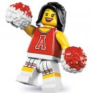 Lego Minifigures Series 8 8833 - Red Cheerleader - New