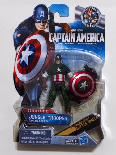 Captain America 2011 Jungle Trooper Captain America #013 3.75 Inch Brand New