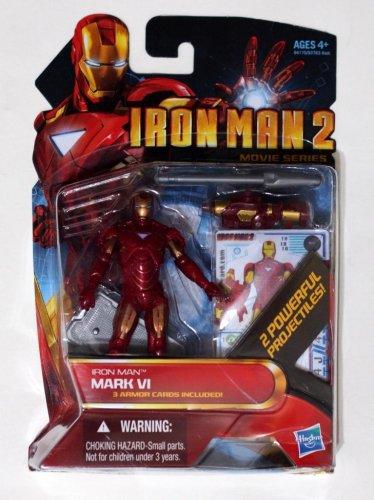 "Iron Man 2010 Movie Series Iron Man Mark VI #10 3.75"" Brand New Hasbro"