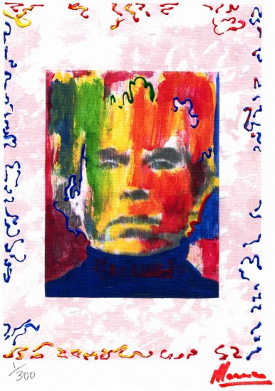 ANDY WARHOL PORTRAIT Limited Edition 1/300 Original print READY TO HANG WRAPPED CANVAS