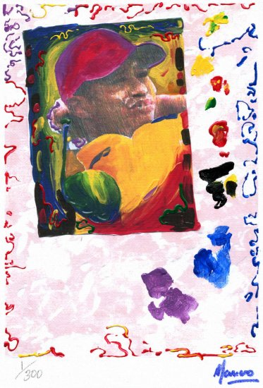 TIGER WOODS PORTRAIT Limited Edition 1/300 Original print READY TO HANG WRAPPED CANVAS