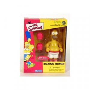 """Simpsons World of Springfield-Boxing Homer 5"""" Interactive-Playmates Toyfare Mail Away"""
