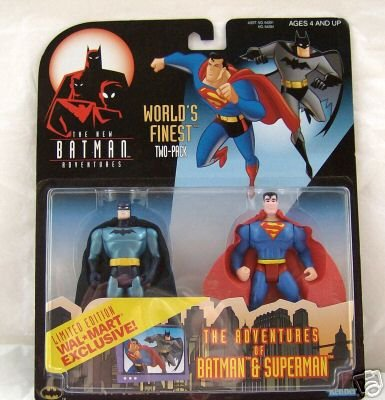 DC Worlds Finest Kenner Superman Batman Animated 2 Pack BTAS Justice League JLU JLA