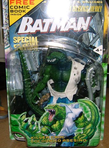 DC Universe Superheroes Killer Croc Batman Comic Figure Walmart