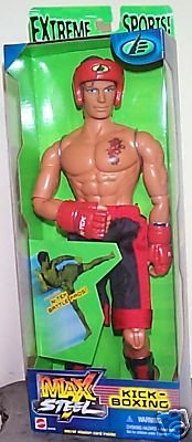 Max Steel (2001) Kick-Boxing 12in. Mattel 54179 MISB Big Jim_GI Joe 1:6 Scale Action Figure