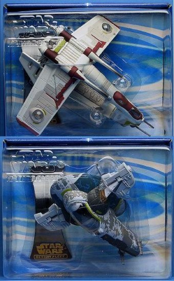 Star Wars MicroMachines 2002 Action Fleet Republic Gunship. Slave 1. Saga AotC Hasbro Galoob