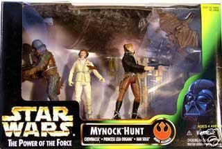 Star Wars POTF Mynock Hunt (Han Solo, Leia, Chewie) Vintage (1998) Kenner Power Force Multipack