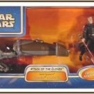 Hasbro Star Wars Saga AotC: Darth Tyranus' Speeder Bike + Dooku EP2 NIB, not mint