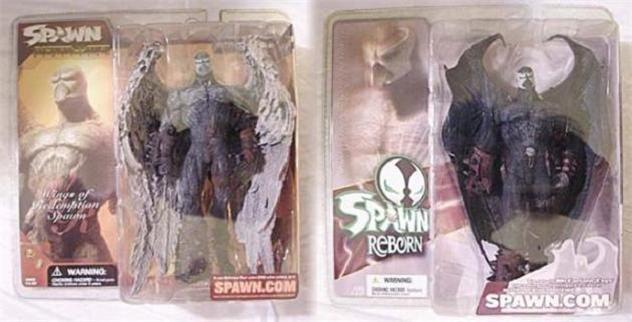 McFarlane Spawn 21 Reborn Set Wings of Redemption Angel Batman Figure Set MOC