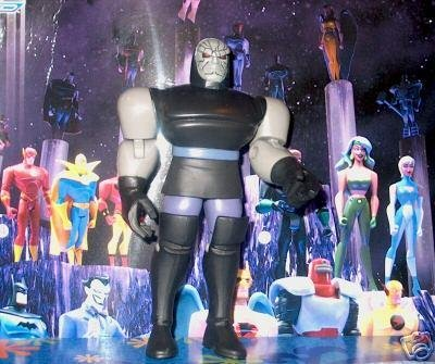 Rare Blue Card Justice League DC Super Heroes JLU figure set MOC