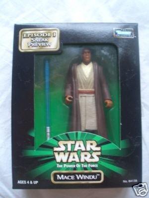 Hasbro 84138 Star Wars Mace Windu Jedi Master E1 TPM Preview POTF Mail Away Kenner MISB