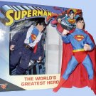 DC Mego WGSH SI Superman Clark Kent Retro Clothed figure doll 70775 Worlds Greatest Super-Heroes