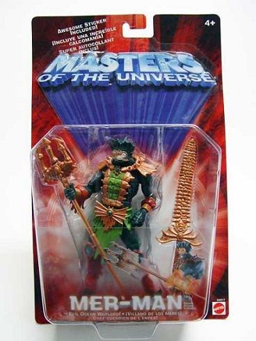 Mer-Man 200x MotU Modern Classic He-Man 2002 2003 Mattel 54917 Snake Men (Repaint)