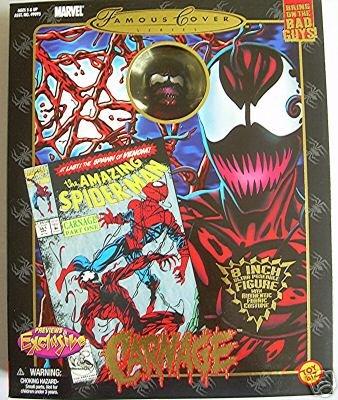"Marvel 8"" Mego Famous Cover Spiderman: Carnage (Venom) action figure doll"