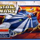 Anakin Skywalker Modified Jedi Starfighter Vehicle 2003 Star Wars Clone Blue Stripe Target #84847