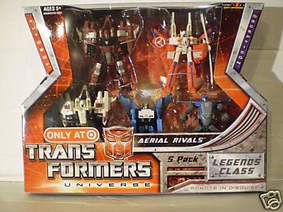 Transformers Universe G1 Classics 5 Pack Thrust Ramjet Autobot Blades Aerial Rivals NEW MIB