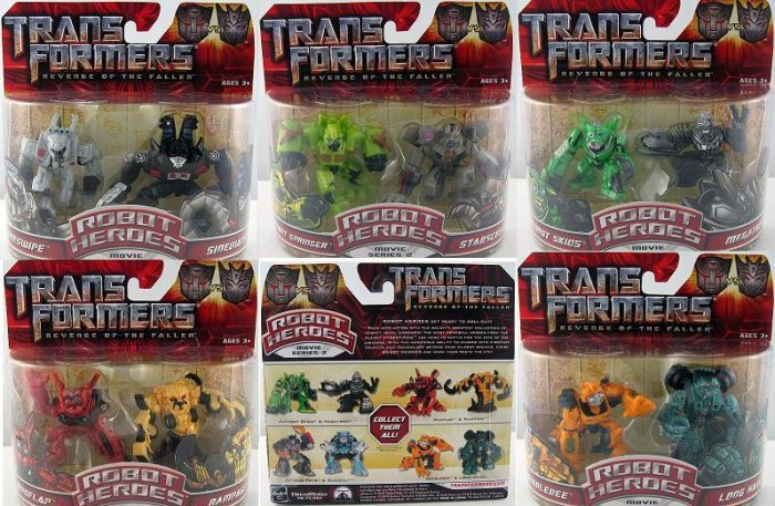 Transformers G1 Movie ROTF Set (10) Robot Heroes MOC