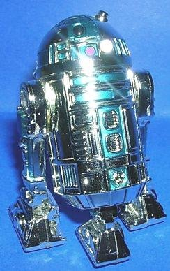 Star Wars 25 Silver Annv Chrome R2-D2 Astromech Droid-TRU-2002 ToysRUs Exclusive