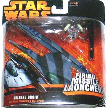 Star Wars E3 RotS Vulture Droid Buzz Transforming Vehicle 2005 Clone Saga Micro