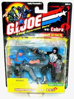 "Hasbro 57495: Shipwreck & B.A.T. Trooper Gi Joe vs. Cobra 2-Pack 2002 Arah 20th 3.75"" 1:18"