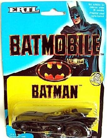 1989 Batman Movie Batmobile Diecast Car Vintage DC Ertl Hot Wheels 1/43