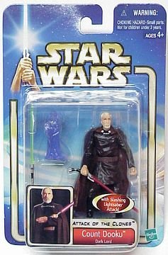 "Count Dooku-Darth Tyranus-Sith Lord-Star Wars aotc-Saga Hasbro 3.75"" figure"
