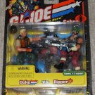 "GI Joe Cobra 2002 Duke/Dreadnok Ripper arah 20th 3 3/4"" 1:18 2-Pack"