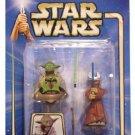 Yoda Jedi Padawan Chian Lightsaber Training Star Wars Clone Saga AOTC 2003
