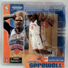 NY Knicks White Jersey Latrell Sprewell NBA McFarlane Toys Sports Collectible Figure