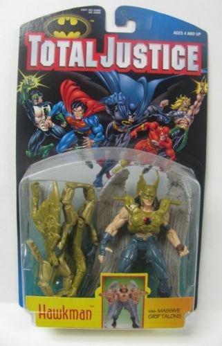 JLA Hawkman Batman: Total Justice DC Superheroes-Kenner Vintage 1996 AF MOC