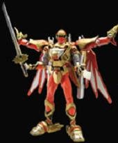 Power Rangers Ninja Storm Red Wind Turbo DX Battlizer Bandai Japan