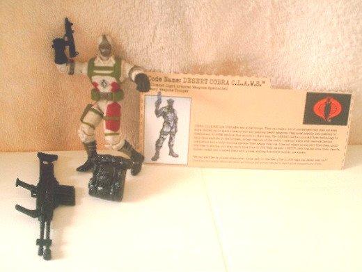 "GI Joe vs Cobra Claws Trooper 2002 Complete w/FC ARAH 20th Anniversary-3.75"" 1:18"