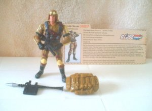 "Hasbro GI Joe vs Cobra Dusty 2002-100% Complete w/FC-ARAH 20th Anniversary-3.75"" 1:18"