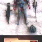 "GI Joe vs Cobra 3.75"" Moray Crimson Trooper (v3) Complete+File Card, Hasbro 2002 3+3/4"" AF"