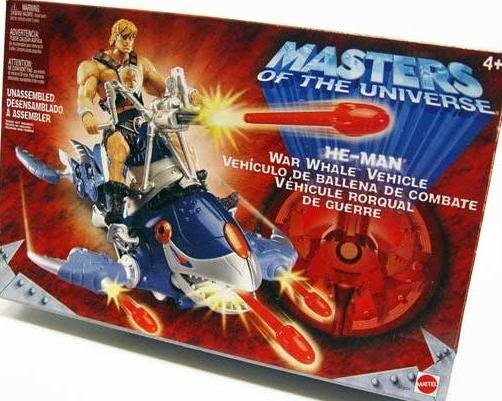 He-Man War Whale Masters / Universe MotU 200x Modern Classics, Mattel 2002 sku 47224