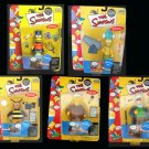 Simpsons WOS Series 5 Set MOC,  Bartman Bumblebee Captain Jack | Playmates World of Springfield