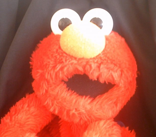 Sesame St. Henson Muppet Elmo Buddy Backpack Book Bag_Jumbo 18in Vintage Plush Toy by Applause