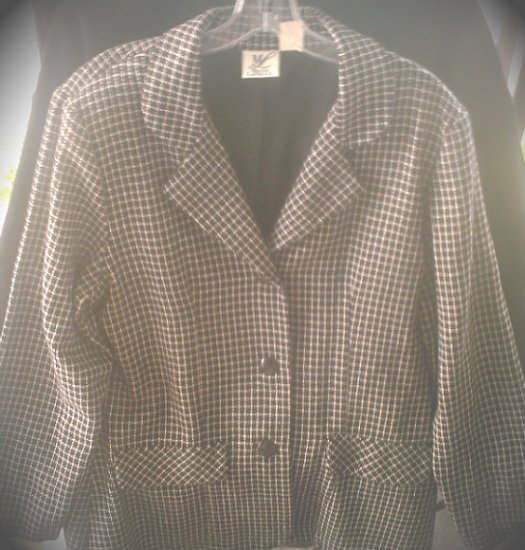 Vintage Women's Business Suit Blazer, Wool Coat