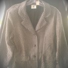 Vintage Womens Clothing Business Suit Blazer Wool Coat Large