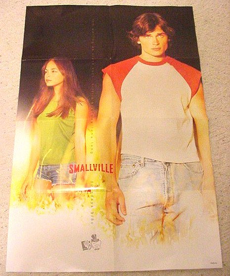 Superman 10th Anniversary Smallville Poster Advance WB 2001 DC Promo (Welling, Kreuk)