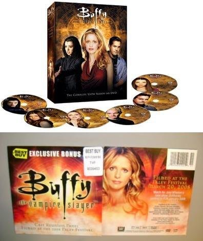 Buffy Season 6 Complete btvs DVD Set + 10th Annv Cast Reunion Panel-Paley 2008
